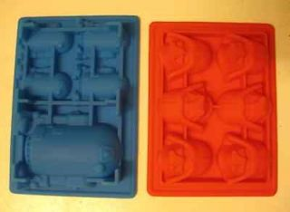 STAR WARS R2 D2 DARTH VADER SILICONE BIRTHDAY CAKE PAN MOLD ICE TRAY