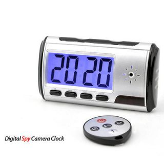 New Motion Detection Home Nanny Spy Clock Video Recorder Camera