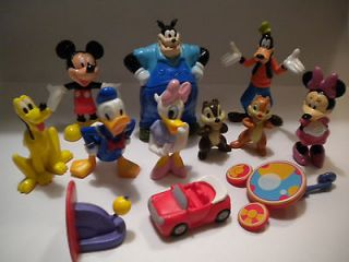 NEW Disney Mickey Mouse Clubhouse Toy Figure Lot & Book Play Set/Cake
