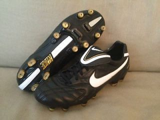 Nike Tiempo Legend III FG Mens Soccer Cleat Black/White/Gold $150