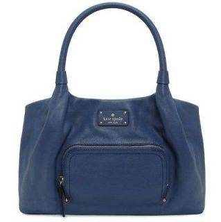 428 NEW KATE SPADE Blue Leather Shoulder Bag HANDBAG / PURSE STEVIE