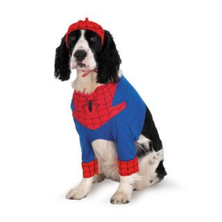 SPIDERMAN SPIDER PET DOG COSTUME SMALL MEDIUM LARGE LICENSED NEW IN