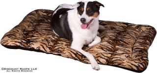 LARGE TIGER PRINT PET DOG BED 45x30 WASHABLE CAT CUSHION PILLOW (LPB