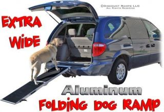 EXTRA WIDE PORTABLE FOLDING DOG CAT RAMP PET RAMPS (DR 06XW)