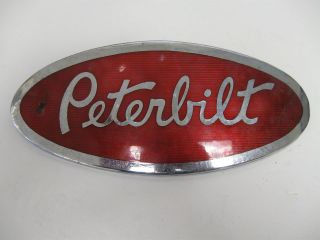 PETERBILT SEMI TRUCK EMBLEM BADGE SCRIPT TRIM METAL LARGE