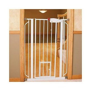 Carlson Pet Products Extra Tall WALK THRU GATE w Pet Door 0941PW