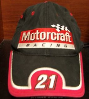 Motorcraft Racing Elliott Sadler Wood Brothers NASCAR adj Hat Cap