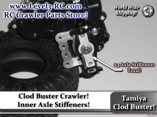 CLOD BUSTER  AXLE STIFFENERS  RC ROCK CRAWLER TRUCK PARTS CLODBUSTER