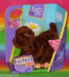 FRIENDS NEWBORN CHOCOLATE BROWN LAB PUPPY DOG TALKS MOVES FUR REAL NIB
