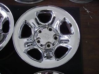 DODGE RAM 1500 TRUCK 17X8 FACTORY OEM 5 LUG CHROME WHEEL RIM 2162