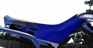 YAMAHA WARRIOR BK Seat Cover GRIPPER BLUE FLAME 88 05