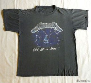 METALLICA Vintage CONCERT SHIRT 90s Tour T Ride The Lightning Faded