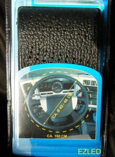 TRUCK STEERING WHEEL COVER LACE UP ULTRA SOFT BLACK 43 48cm DIAMETER
