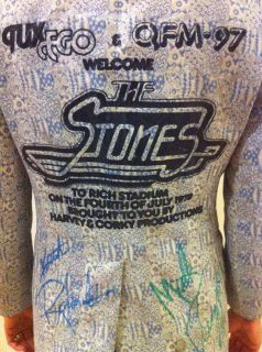 1978 Rolling Stones Tour Jacket Tux Coat Autographed Keith Richards