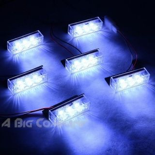 18 LED EMERGENCY VEHICLE STROBE FLASHING LIGHTS FOR FRONT GRILLE DECK