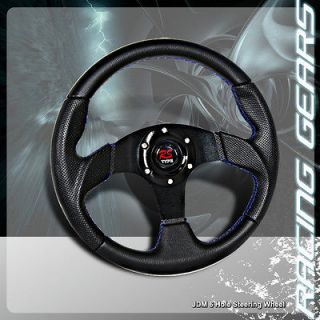 Black Center / Black PVC Leather Steering Wheel Camry Supra Corolla