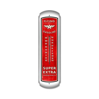 Gasoline EXTRA LARGE nice metal thermometer auto/garage/shop 8x30