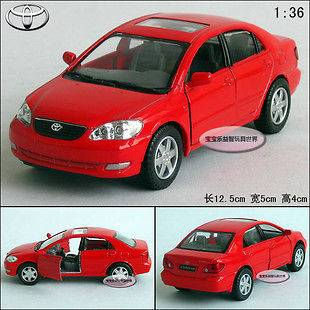 New 136 Toyota Corolla Alloy Diecast Model Car Red B198d