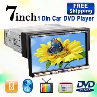 In Dash 7 Touch Screen Car Stereo Radio CD DVD Player BT Ipod  TV