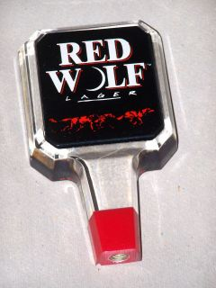 Red Wolf Acrylic Beer Tap Handle New 10 TOTAL WHOLESALE LOT FREE