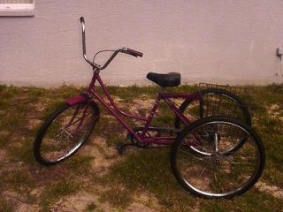 Adult tricycle, Vintage Joannau, 26  wheels, brand new tires, nicely