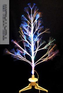TEKTRUM 32 WHITE FIBER OPTIC LIGHT/LED TWIG TREE  XMAS