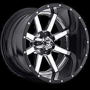 20 FUEL OFFROAD Maverick D260 2pc Wheel SET CHROME 20x12 4X4 2piece