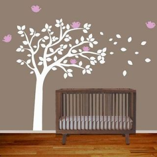 Wall Decal Tree with Birds   Removable Vinyl Wall Decal Sticker