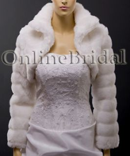 white faux fur jacket in Coats & Jackets