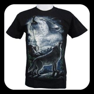 White Wolf Wolves Full Moon Tattoo Rock Eagle T Shirt B7 New Size M L
