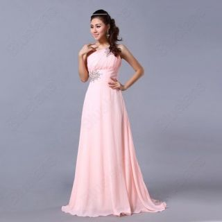 Pink Color Stock 9 Size Formal Prom Gowns Slim Evening Ball Cocktail