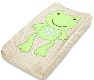 SUMMER BABY BOYS GIRLS TAN GREEN FROG CONTOUR CHANGING PAD PALS COVER