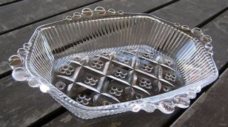 Antique or Depression Era Clear Candy Dish Hexagon Shape