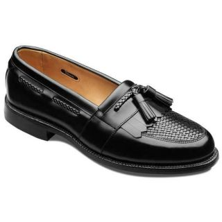 Allen Edmonds Mens Cody Black/Black Weave Leather Shoe Size 7.5 E