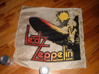 1970s Led Zeppelin nylon banner Concert 1st album cover Robert Plant