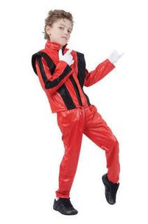 Michael Jackson Fancy Dress Outfit 4 6 yrs 1980s Pop Star Kids