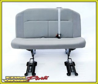 Ford Econoline Van Bench Seat 3 Person Grey Cloth 08 12