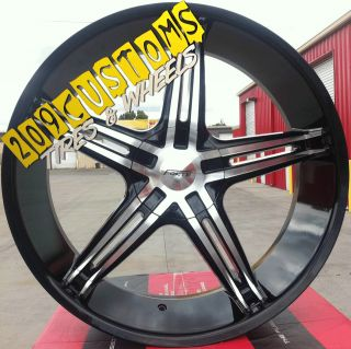 FORTE 56 BLACK WHEELS RIMS TIRES 6X139.7 NISSAN ARMADA 2010 2011 2012