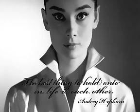 Audrey Hepburn The Best Thing To Hold On To Pop art Canvas 16 x 20