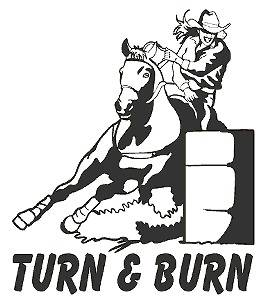 Barrel Racing Decal Turn & Burn Western Sticker 6