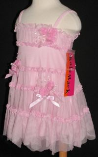 NWT Baby Girls Gorgeous Pink Tulle Kate Mack Party Dress 9 Months