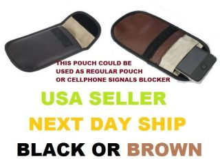 Cell Phone Signal Blocker / Jammer Pouch Case Handset Function Bag