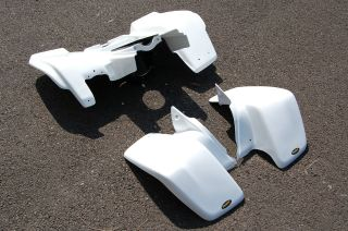 YAMAHA BLASTER YFS200 WHITE PLASTIC FRONT AND REAR FENDER SET PLASTICS