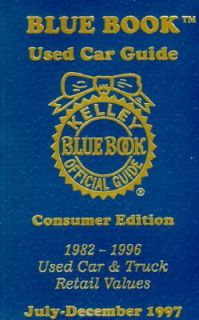 Blue Book Used Car Guide Consumer Edition, Covers 1982 1996 Cars