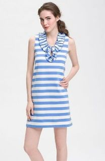Kate Spade White Delphinium Striped Act Three Lucille Knit Dress $268