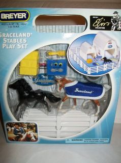 BREYER ELVIS COLLECTION HORSES OF GRACELAND STABLES PLAY SET FREE USA