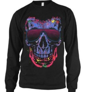Shady Character Skull Thermal Long Sleeve Shirt Sunglasses Liquid Blue