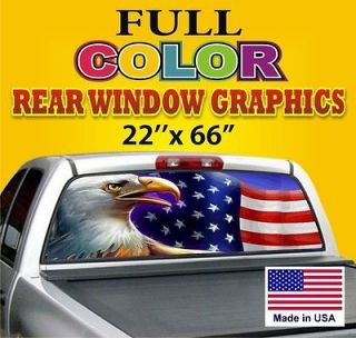 Great gift USA Truck Car Rear Window Graphics Tint Decals Sign Dodge