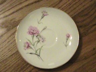 ROYAL COURT CARNATION FINE CHINA 6 SAUCER PINK JAPAN
