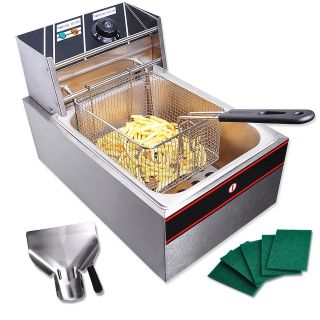 6L Commercial Electric Deep Fryer 2500W Tank Basket Restaurant Party